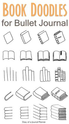 Free tutorials for bullet journal doodles to teach you how to draw a book standing up, an open book, a stack or pile of books, a bookshelf and more. drawings doodles How To Draw A Book Super Easy Step By Step Tutorials For Beginners) Doodle Bullet Journal, Bullet Journal Banner, Bullet Journal Aesthetic, Bullet Journal Notebook, Doodle Art Journals, Bullet Journal Ideas Pages, Bullet Journal Inspiration, Book Journal, Books To Read Bullet Journal