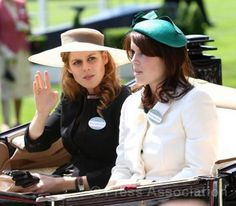 Princess Beatrice and Princess Eugenie arriving at Royal Ascot