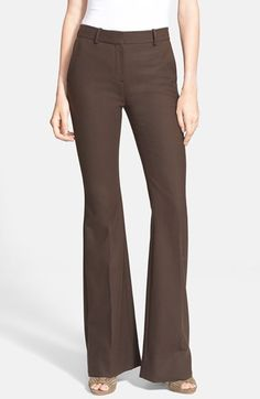 Theory+'Jotsna'+Stretch+Wool+Flare+Pants+available+at+#Nordstrom