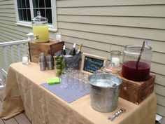 Outdoor bar at our housewarming party