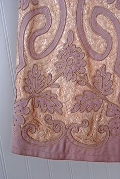 1910's Cutwork on a wool & lace cape. Interesting...is this made by a Cornely braiding machine?!