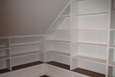 Custom-built attic shelving systems: points to consider