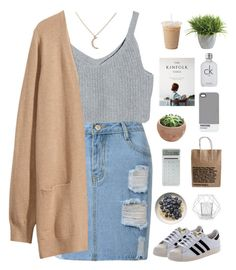"""""""Untitled #556"""" by amy-lopezx ❤ liked on Polyvore featuring H&M, Ethan Allen, LEXON, Calvin Klein, Bloomingville, Pantone and adidas Originals"""