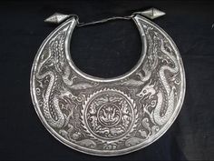 China | A silver necklace from the Miao people from Guizhou | ca. late 20th ~ early 21st century. | Silver alloy over base metal