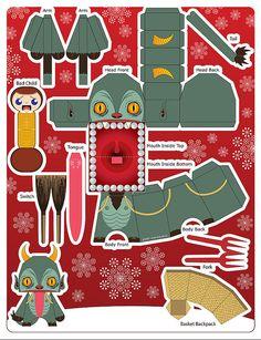 Squealer Krampus Card