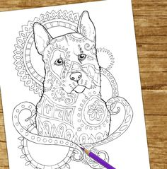 Beautiful New Adult Coloring Book For Dog Lovers Coming Summer 2016 Visit Our Fb Page