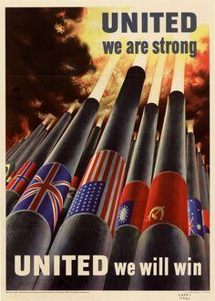 History In Posters, American WW2 Alliance propaganda poster (1943)