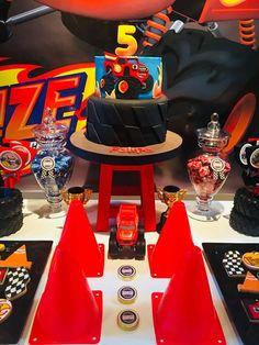 New kids monster truck cake party ideas 51 Ideas Torta Blaze, Blaze Cakes, Blaze And The Monster Machines Cake, Blaze Monster Machine, 5th Birthday Party Ideas, Cars Birthday Parties, Ideas Party, Blaze Birthday Cake, Monster Truck Party