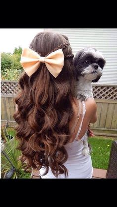 Cute Hairstyles With Bows❤️. #tipit#Hair#Trusper#Tip
