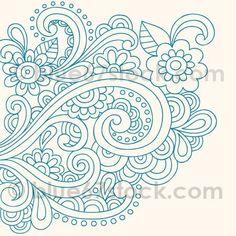 Henna Tattoo Paisley Doodle Vector Royalty Free Stock Vector Art Illustration Thats just beautiful