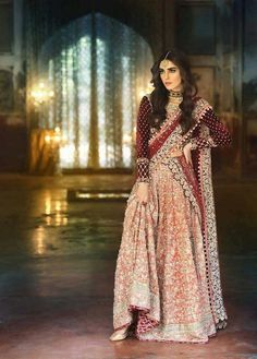 Pakistani Fashion # Maria B# model Maya Ali Pakistani Couture, Pakistani Wedding Dresses, Pakistani Outfits, Indian Dresses, Indian Outfits, Latest Pakistani Fashion, Wedding Lehnga, Wedding Wear, Oriental Fashion