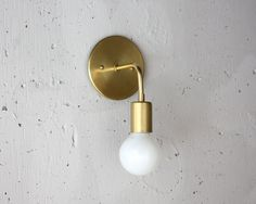 Roy.  Brass Sconce.  Simple wall light.  Mid von RoughLuckStudio
