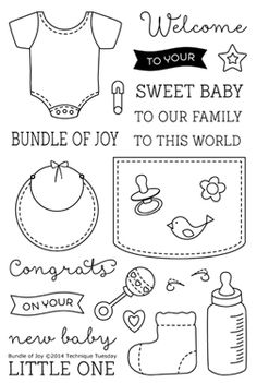 Technique Tuesday - Clear Acrylic Stamps - Bundle of Joy at Scrapbook.com