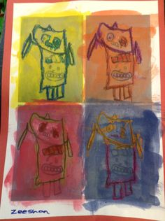 Year 1 Andy Warhol toys inspired wax relief .