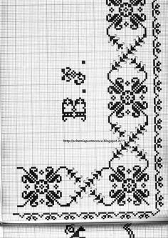 This Pin was discovered by محم Embroidery Patterns Free, Cross Stitch Embroidery, Hand Embroidery, Embroidery Designs, Knitting Patterns, Cross Stitch Borders, Cross Stitch Flowers, Cross Stitch Designs, Cross Stitch Patterns