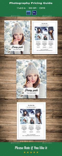 Photography Price List Template Photography price list, Price - price list template