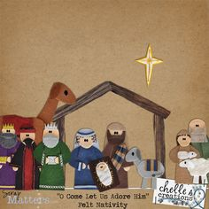 Like this star, the wise men, Joseph and the shepherd holding the lamb. Love the embellishments on the wise men.