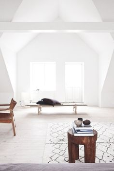 Attic with dormer windows. Vedbaek House III by Norm Architects