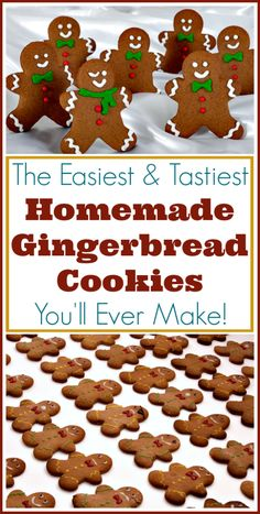 Cookies Recipe for Perfect Gingerbread Men! The easiest recipe for perfect gingerbread men and other cutout cookies!The easiest recipe for perfect gingerbread men and other cutout cookies! Christmas Sweets, Christmas Cooking, Noel Christmas, Christmas Goodies, Holiday Desserts, Christmas Candy, Holiday Baking, Holiday Treats, Christmas Kitchen
