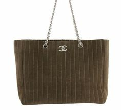 Chanel Suede Quilted Tote Bag