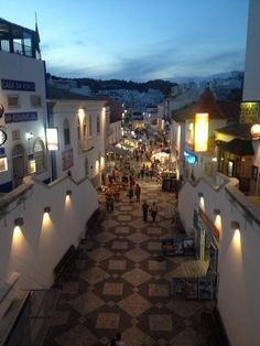 Portuguese summer nights - Old Town Square - Albufeira, Algarve.