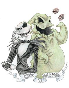 *JACK SKELLINGTON & OOGIE BOOGIE ~ The Nightmare Before Christmas, 1993