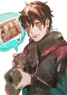Kakashi (in his Shikaner disguise) trolling his cute little genin^^