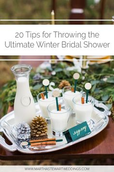 20 Tips for Throwing the Ultimate Winter Bridal Shower #BridalShower #WinterBridalShower #WinterWedding #BridalShowerIdeas | Martha Stewart Wedding