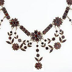 Bohemian garnet necklace