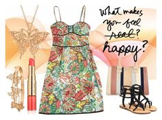 """""""What makes you feel happy?"""" by suelysara ❤ liked on Polyvore featuring Nanette Lepore, River Island, Mystique, Allurez and Estée Lauder"""
