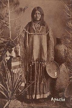 White Mountain Apache woman - circa 1886