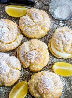 Lemon Cream Puffs