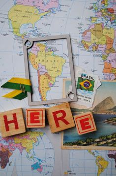 Scrap da AnaCaldatto: Brazil Map  #scrapbooking #makingmemories #papercraft #inspiration