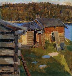 The Ekola Croft in Evening Sunlight 1889  Akseli Gallen Kalela
