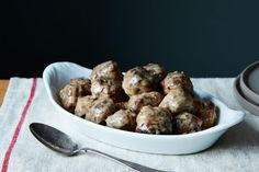 Old-School Swedish Meatballs - I serve these over egg noodles. They've been a fav since I was a kid!