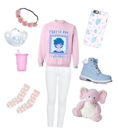 """""""Pretty Pastel"""" by xxjcbeanxx ❤ liked on Polyvore featuring Paige Denim, Casetify, Boohoo, The First Years, Accessorize, littlegirl, ddlg, littleboy, littlespace and ddlb"""