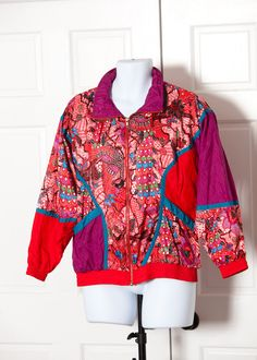 A personal favorite from my Etsy shop https://www.etsy.com/listing/501914342/vintage-80s-90s-windbreaker-bold-spirit