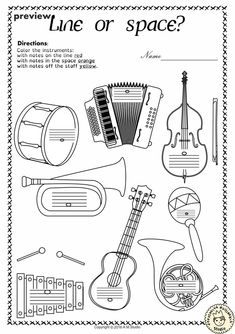 Music Worksheets Pack (Line-Space, High-Low) from Anastasiya Multimedia Studio