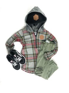Baby Boy Accessories, Tartan Plaid, Little Man, Mommy And Me, Zip Hoodie, Flannel, Tights, Collections, Sign