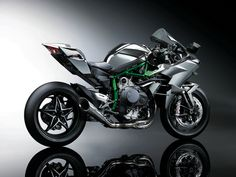 2015 Kawasaki  NinjaH2R - 300HP, 998CC, all carbon fiber body green frame, black chrome tank