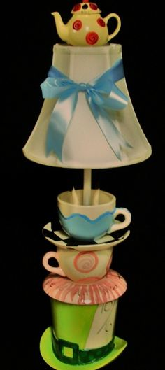 Mad Hatter Tea Party lamp