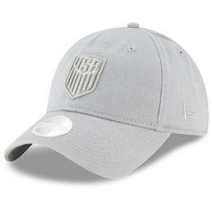 d77fe868d56 Women s New Era Gray USMNT Preferred Pick Slouch Adjustable Hat Hats For  Women
