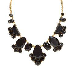 kate spade new york Day Tripper Necklace   from Von Maur #VonMaur #StyleCorner #BoldNecklace #Black #Accessory