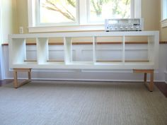 record storage unit from expedit - ikea hack