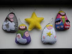 Felt Nativity Set For Christmas
