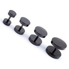 Schwarze Edelstahl Fake Plugs - 6 | 8 | 10 | 12mm lieferbar Fake Piercing, Piercings, Fake Plugs, Black Stainless Steel, Silver, Peircings, Piercing