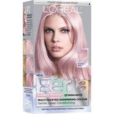 L'Oreal Paris Feria Pastels Smokey Pink hair color for spring! Rose Gold Hair Dye, Pink Hair Dye, Pastel Pink Hair, Hair Color Pink, Brown Hair Colors, Ombre Hair, Dyed Hair, Permanent Hair Color, L'oréal Paris