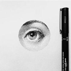WEBSTA @ mr.k_tattoo - Dot the Eyes #bangbangnyc #dotwork #art #drawing…