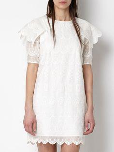 Los 9 vestidos blancos de la temporada (via Bloglovin.com ) Day Dresses, White Dress, Tunic Tops, Shopping, Beach, Women, Fashion, White Casual Dresses, Mature Fashion