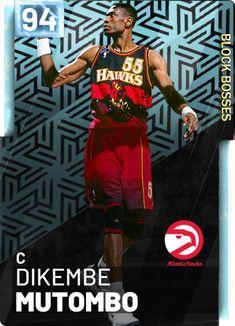 User created NBA Dikembe Mutombo card, made using the custom card creator Basketball Leagues, Basketball Legends, Basketball Cards, College Basketball, Dikembe Mutombo, Contact Sport, Player Card, Atlanta Hawks, Wnba